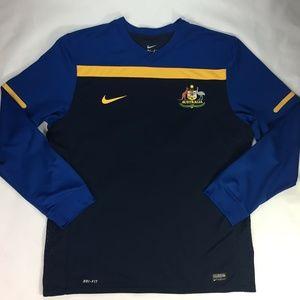 Nike Dri Fit Vented Australia Soccer Jersey XXL